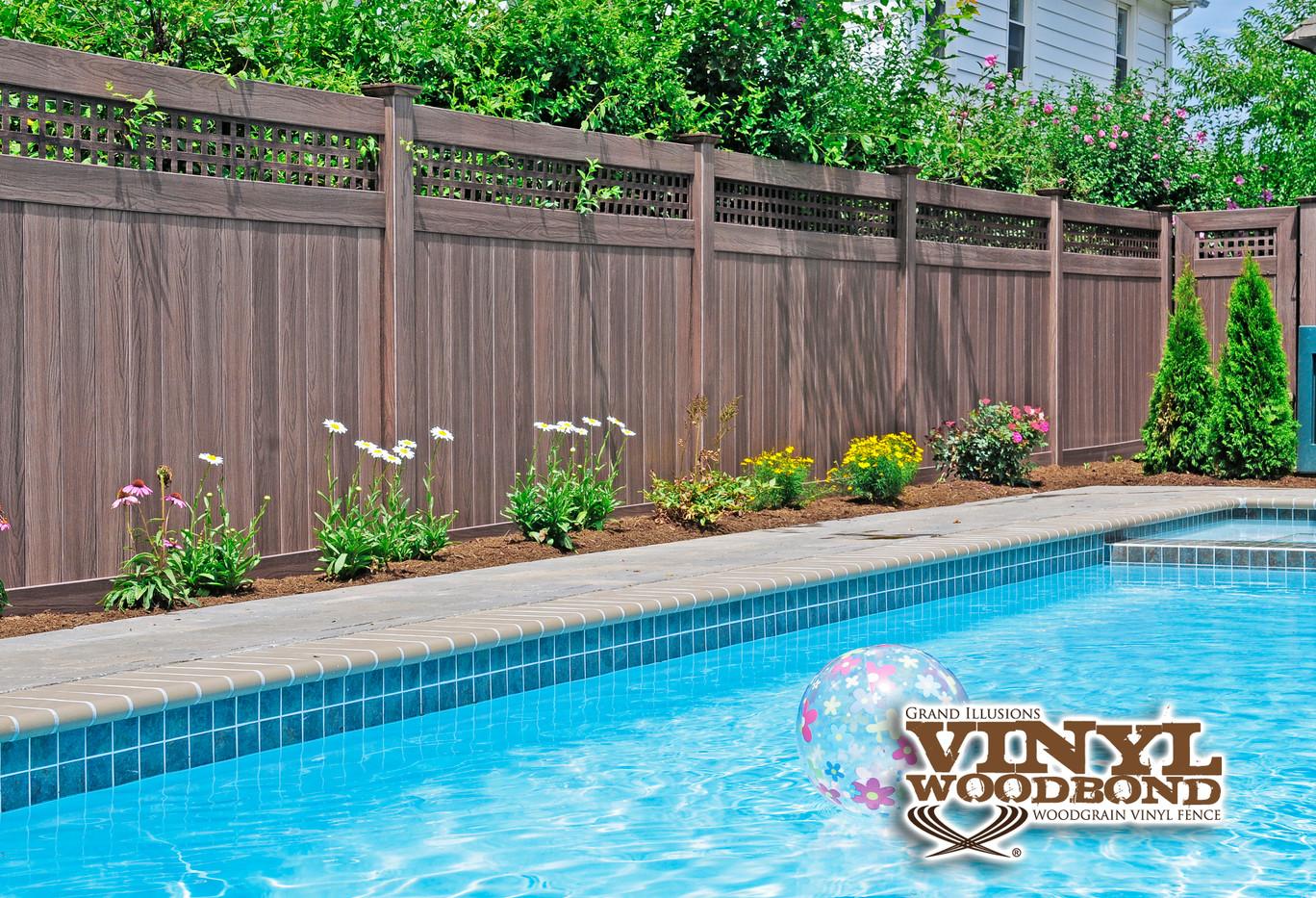 Walnut Grand illusions pvc fence