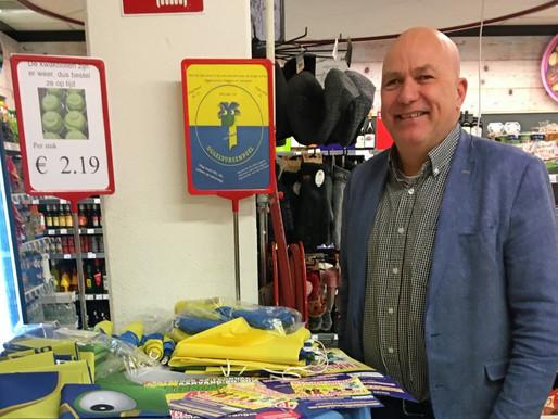 Nu te koop bij Spar Kuijpers; de originele vlaggen en wimpels van Oggelvorsenpoel