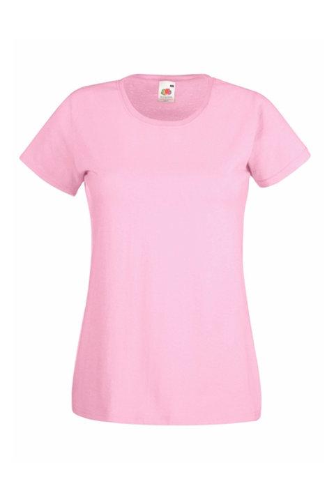 Pinkki VALUEWEIGHT T-PAITA Lady-Fit