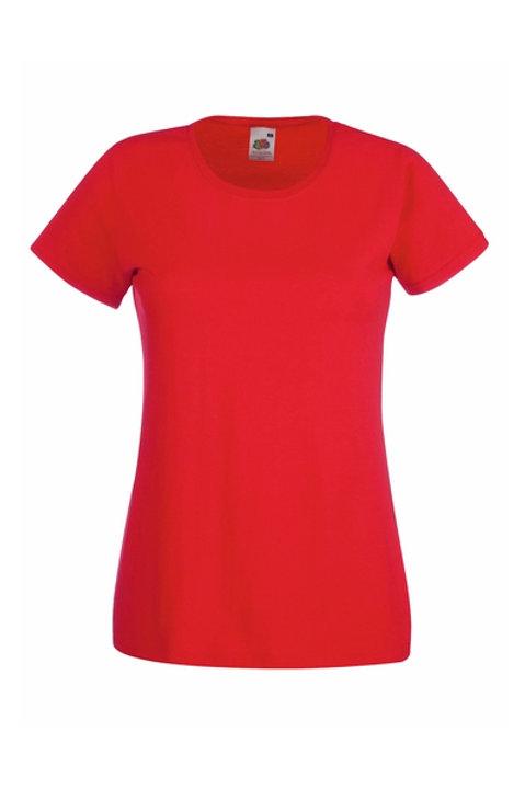Punainen VALUEWEIGHT T-PAITA Lady-Fit