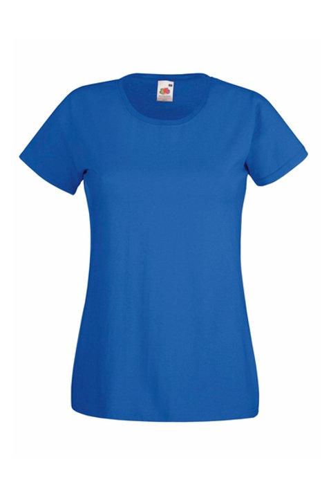 Royal Sininen VALUEWEIGHT T-PAITA Lady-Fit