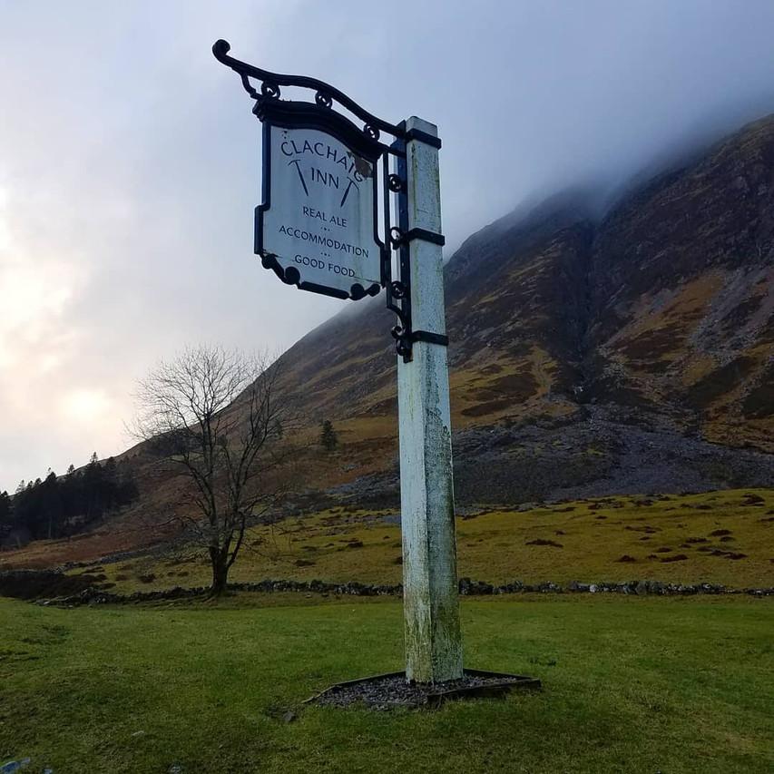 Clachaig Inn on road to Hagrid's Hut, Scottish Highlands