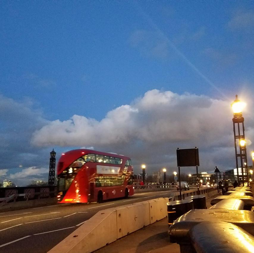 Lambeth Bridge - The Knight's Bus
