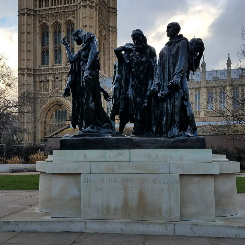 Rodin's Burghers of Calais in Victoria Tower Gardens