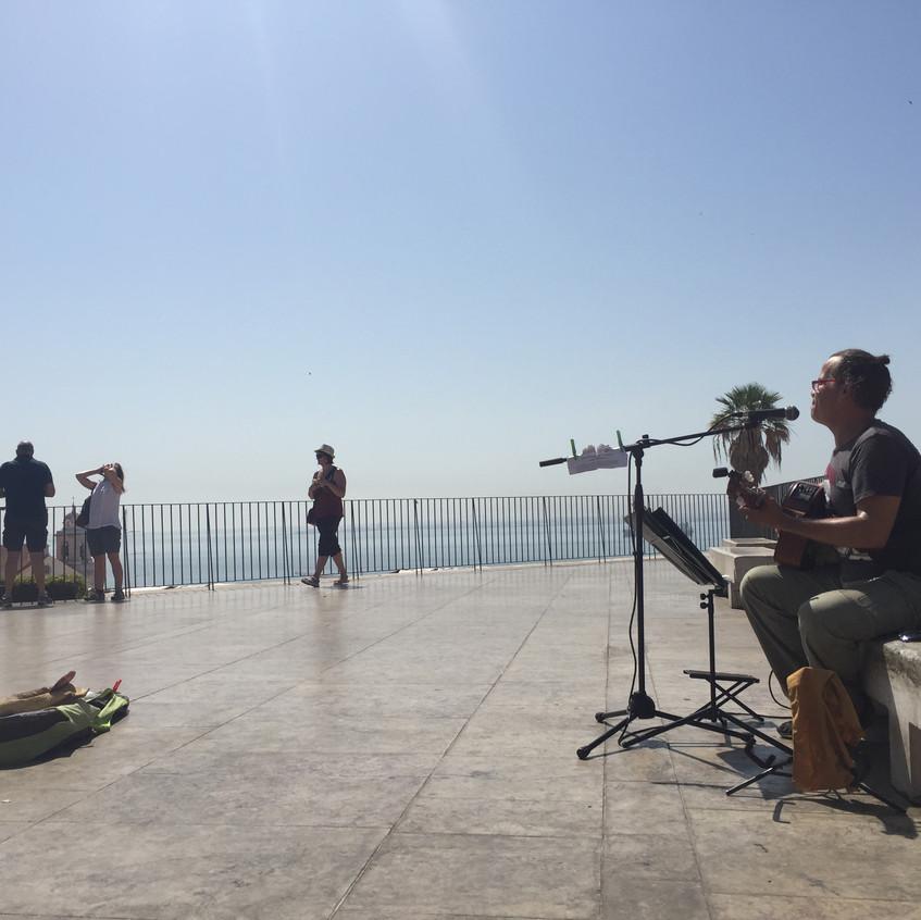 Street Musician on the Terrace