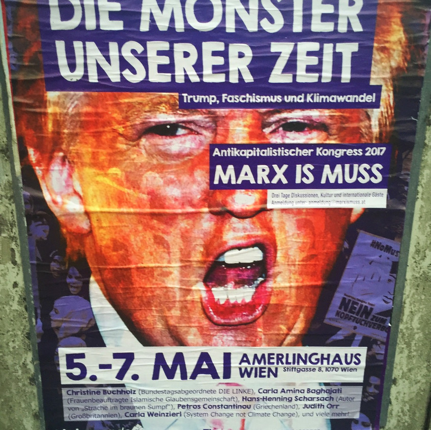"""Poster """"The Monster of Our Time"""""""