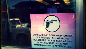 This sign was on the front of a Cupcake shop. Cody, Wyoming.