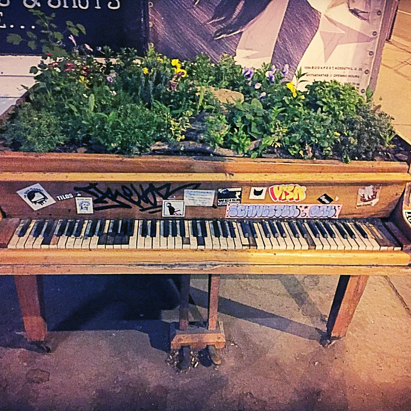 Flowered Covered Pianos