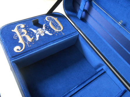 T. A. Timms & Son:                     Custom Embroidered Violin Cases