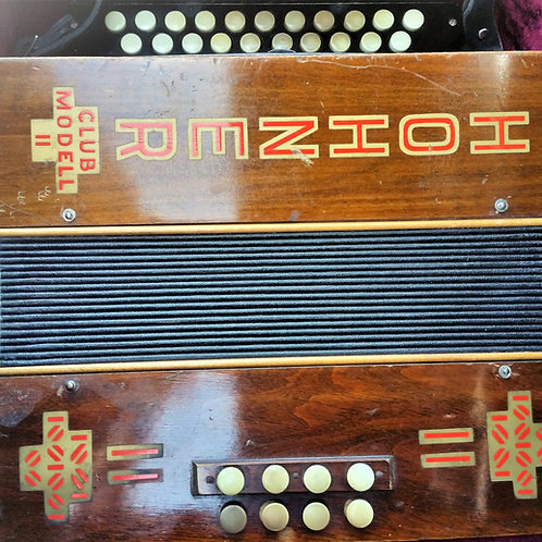 Hohner 2 row Button Accordion. USED.