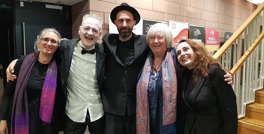 Cast of the Madrugada Opening Night Stack Theatre, Cork with the late Mick Lynch's sister