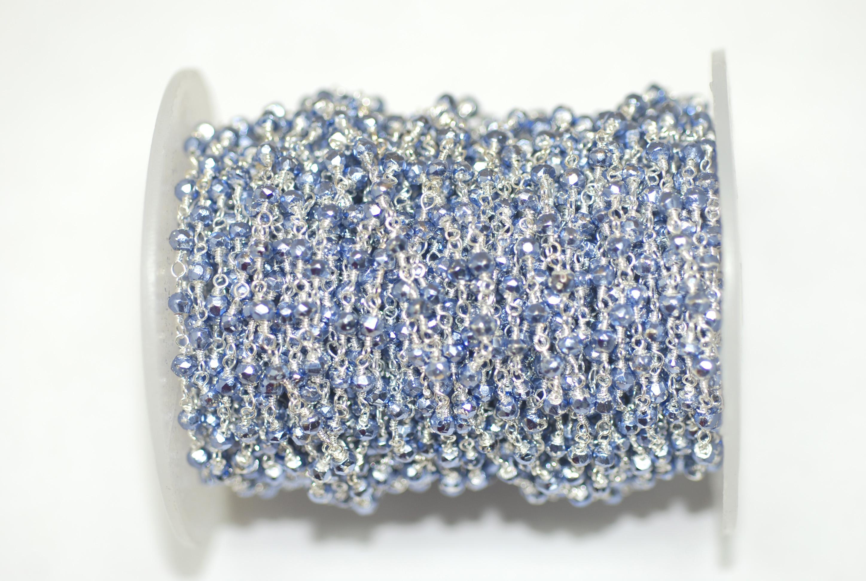 Tanzanite Pyrite Rosary Chain