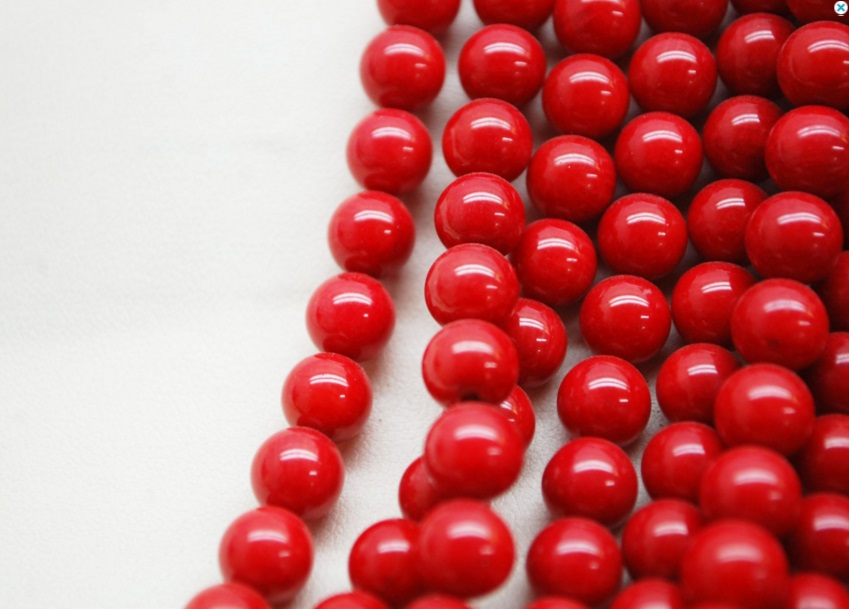 Coral Round Beads