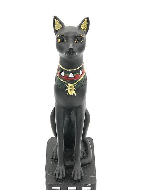9 inch Egyptian Black Cat Statue