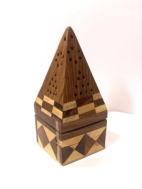 Pyramid Cone Incense Burner w/ flip top