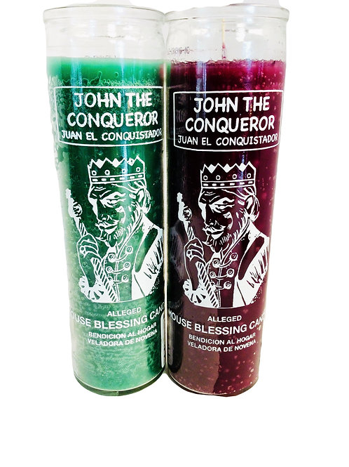 John The Conqueror: 7 Day Glass Candle