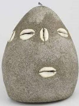 5' Elegua Cement Head