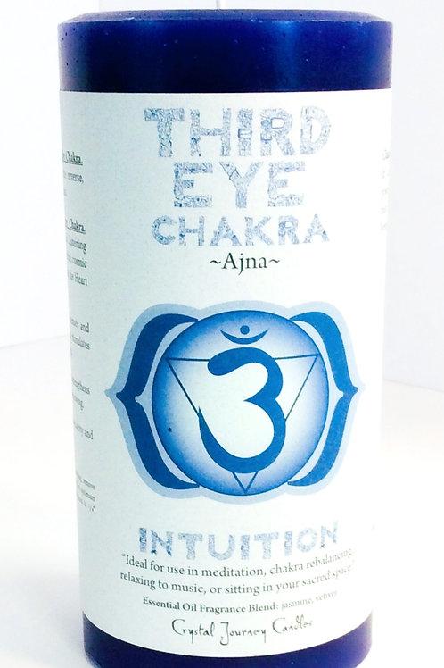Third Eye Chakra Pillar Candle