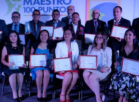 Ganadores de Maestro 100 Puntos y Directora 100 Puntos 2019