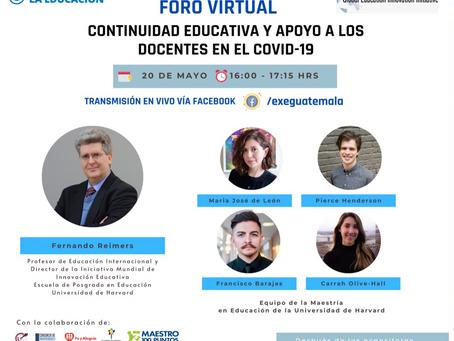 Promoviendo la continuidad de la educación apoyando a docentes en Guatemala durante el COVID-19