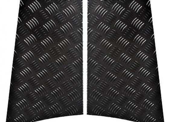 LR85B-3 Black 3mm 110 Chequer Rear Wing Protectors