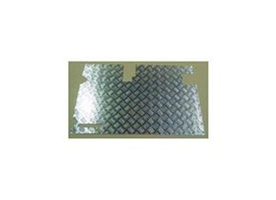 LR83-3 LAND ROVER DEFENDER 90/110 3mm CHEQUER PLATE DOOR CARD WITH WIPER EARLY T