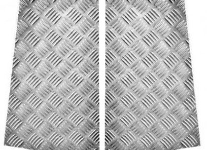 LR85 Silver 2mm 110 Chequer Rear Wing Protectors