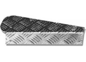 LR80 Silver 2mm Chequer 90/110 Mud flap Mounting Set