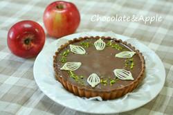チョコと林檎のタルト