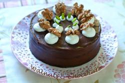 胡桃とチョコのケーキ