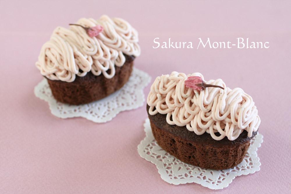 桜のモンブラン風カップケーキ