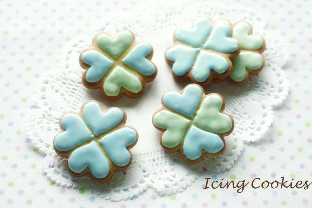 水玉のアイシングクッキー