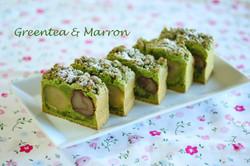 抹茶とマロンのバターケーキ