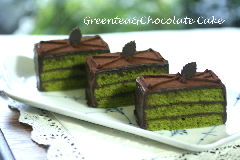 抹茶とチョコのケーキ