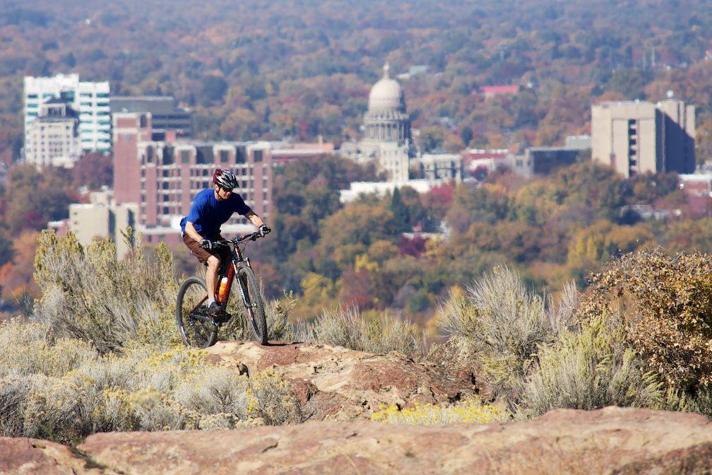 Biking in the foothills