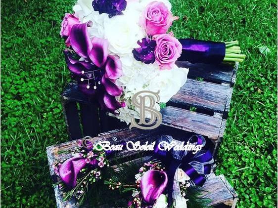 Beau Soleil Wedding - Purple Bridal Bouq