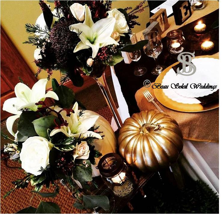 Beau Soleil Wedding - Elegant Pumpkin Fa