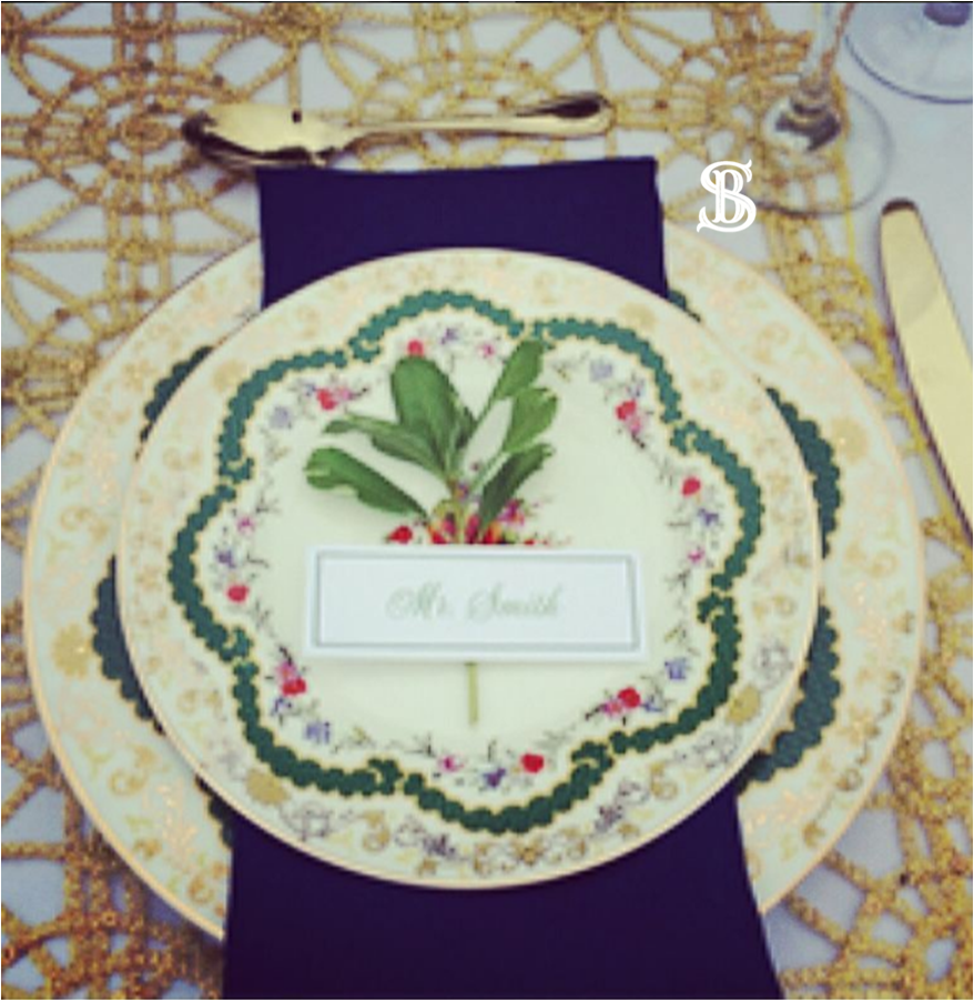 Beau Soleil Wedding - Navy & Gold Weddin