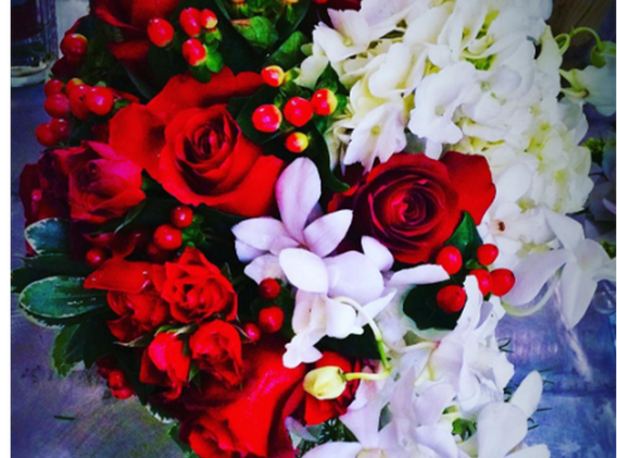 Beau Soleil Wedding - Red & White Weddin