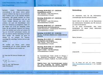 Vortrag zu MS und Umwelteinflüsse im mtz Dresden