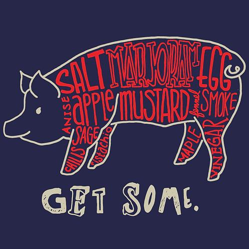 """Get Some"" Long Sleeve   Hog NAVY"