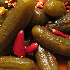 Atomic Hot & Spicy Pickles