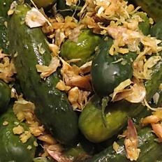 Half Sour Garlic-Sun-Cured Pickles