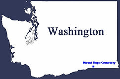 Washington State - Outline Map - Mount H
