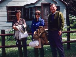 Karen with parents - Circa 1970