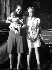 Helen Marie holding son James Wesley with Daughter  Margaret Marie