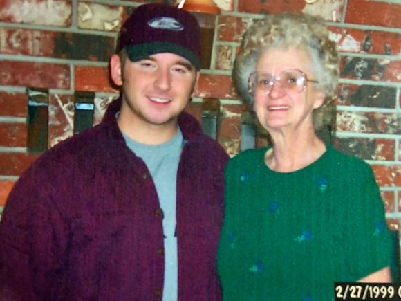 Stephen with his grandmother