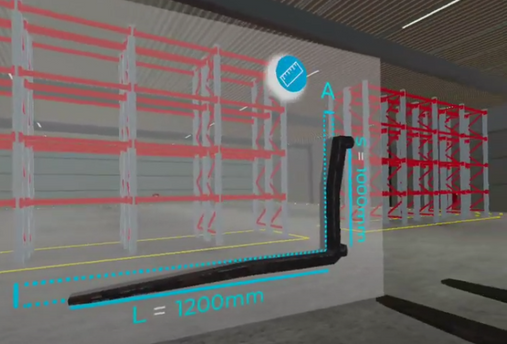 wózki widłowe fork lift virtual reality