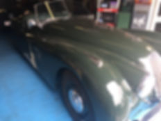 Jaguar XK120 damaged