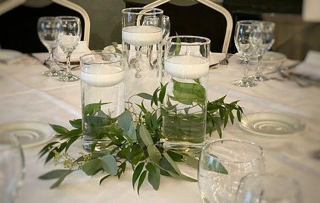 Cylinder vase candle holder wedding centrepiece